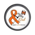 Leukemia Ribbon Dad Wall Clock
