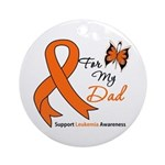 Leukemia Ribbon Dad Ornament (Round)
