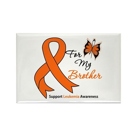 Leukemia Ribbon Brother Rectangle Magnet (10 pack)