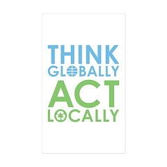Environmentalist Rectangle Sticker 10 pk)