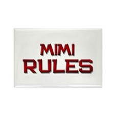 mimi rules Rectangle Magnet (10 pack)