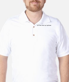 Never my boyfriend Golf Shirt