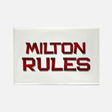 milton rules Rectangle Magnet