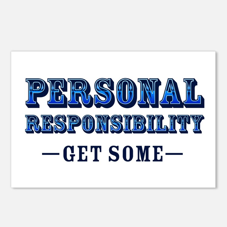 Personal Responsibility Postcards (Package of 8)
