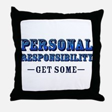 Personal Responsibility Throw Pillow