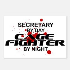 Secretary Cage Fighter by Night Postcards (Package