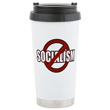 No Socialism Travel Mug
