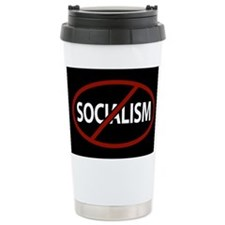 No Socialism Travel Coffee Mug
