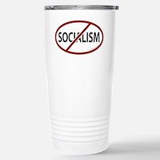 No Socialism Stainless Steel Travel Mug