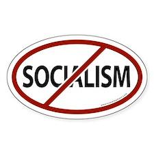 No Socialism Oval Bumper Stickers