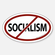No Socialism Oval Bumper Stickers