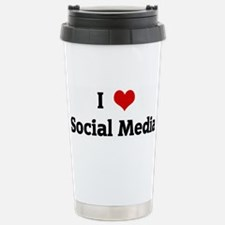 I Love Social Media Travel Mug