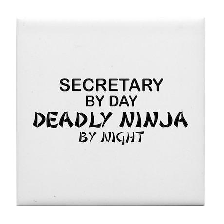 Secretary Deadly Ninja by Night Tile Coaster