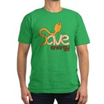 Save Energy Men's Fitted T-Shirt (dark)