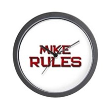 mike rules Wall Clock