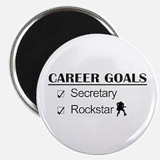 Secretary Rockstar Career Goals Magnet