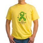 Gastroparesis Butterfly Ribbo Yellow T-Shirt