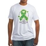 Gastroparesis Butterfly Ribbo Fitted T-Shirt
