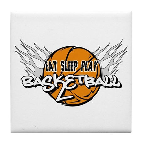 Eat Sleep Play Basketball Tile Coaster