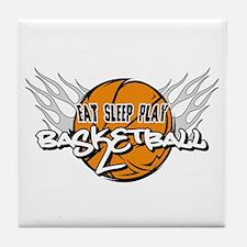 Eat Sleep Play Basketball Tile Coaster