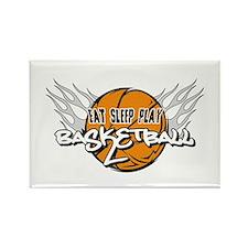 Eat Sleep Play Basketball Rectangle Magnet