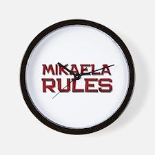 mikaela rules Wall Clock