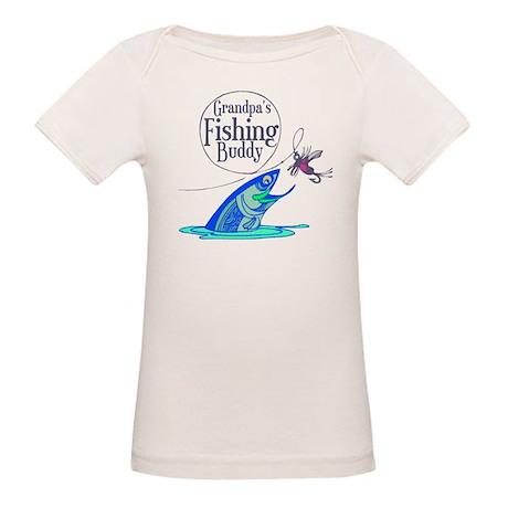 Grandpa's Fishing Buddy Organic Baby T-Shirt