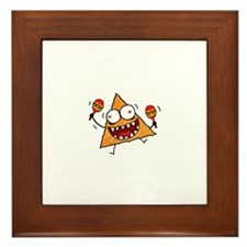 Cute Devil dogs Framed Tile