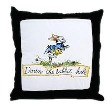 DOWN THE RABBIT HOLE Throw Pillow