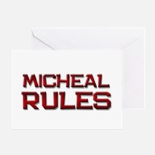 micheal rules Greeting Card