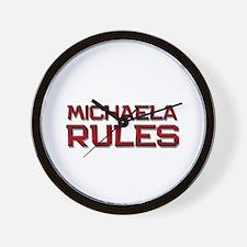 michaela rules Wall Clock