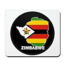 Flag Map of Zimbabwe Mousepad
