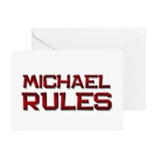 michael rules Greeting Card