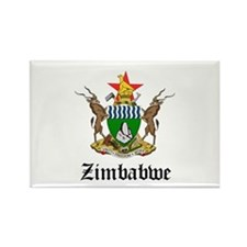 Zimbabwean Coat of Arms Seal Rectangle Magnet