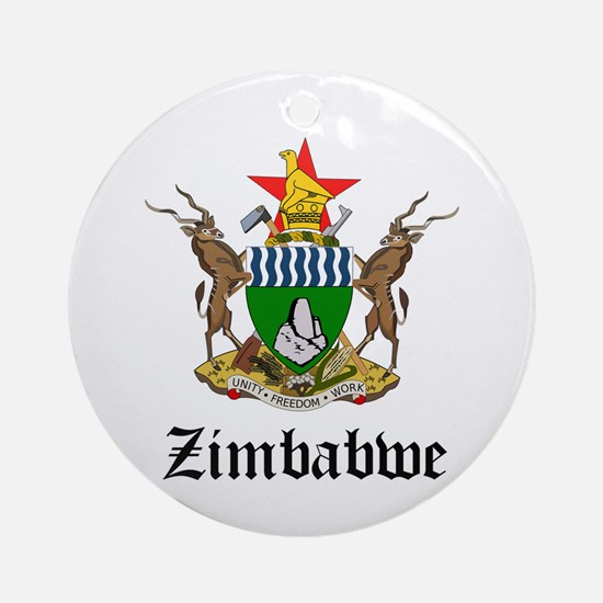 Zimbabwean Coat of Arms Seal Ornament (Round)