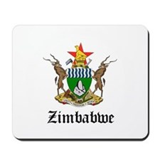 Zimbabwean Coat of Arms Seal Mousepad