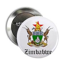 "Zimbabwean Coat of Arms Seal 2.25"" Button"