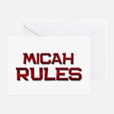 micah rules Greeting Card