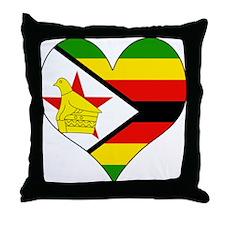 I Love Zimbabwe Throw Pillow