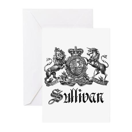 Sullivan Vintage Family Crest Greeting Cards (Pk o