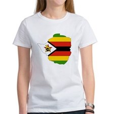 Zimbabwe Flag Map Tee