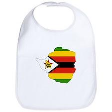 Zimbabwe Flag Map Bib