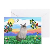 Bright Life / Ragdoll Greeting Card