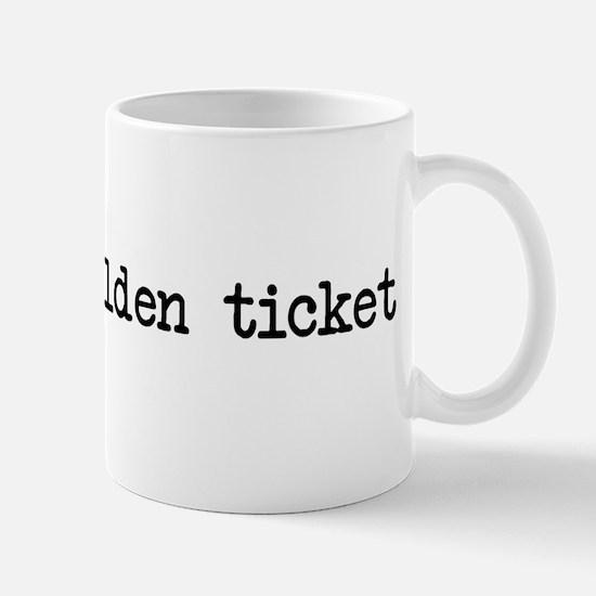 Golden ticket Mug