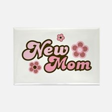 New Mom Rectangle Magnet