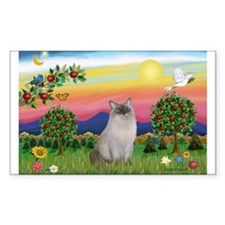 Bright Country / Ragdoll Rectangle Decal