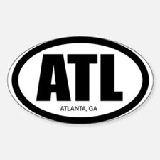 """The ATL"" Oval Decal"