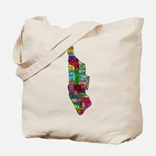 NYC Color Coded Map Tote Bag