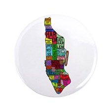 """NYC Color Coded Map 3.5"""" Button"""