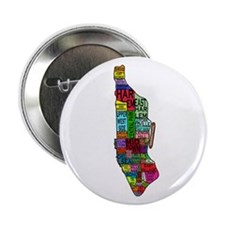 """NYC Color Coded Map 2.25"""" Button"""